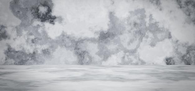 3d 렌더링. 흰색과 회색 시멘트 배경