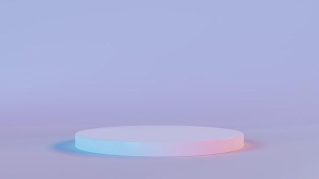 3d rendering of white circle podium