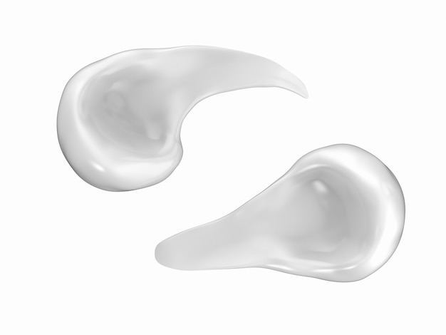 3d rendering white cosmetic cream or moisturizer on white background