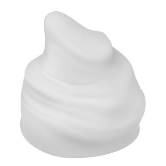 白で隔離される白い泡をレンダリングする3d