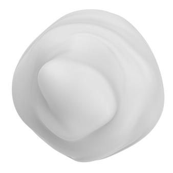 흰색에 고립 된 3d 렌더링 흰색 거품