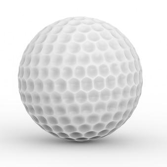 3d рендеринг белый мяч для гольфа на белом фоне