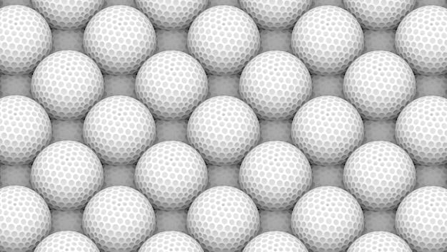 3d 렌더링. 화이트 골프 공 표면 벽입니다.