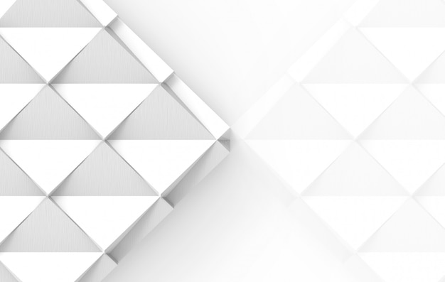 3d rendering of white grid square paper art on gray background