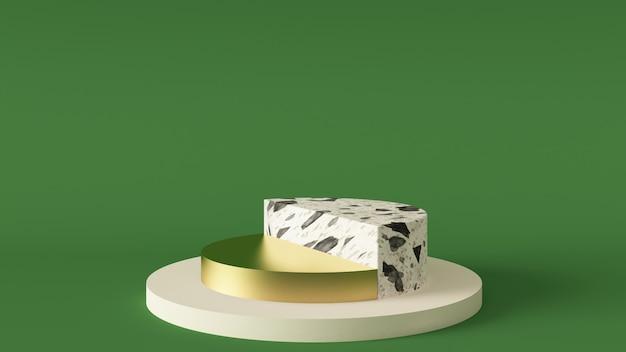 3dレンダリングの白い大理石の台座