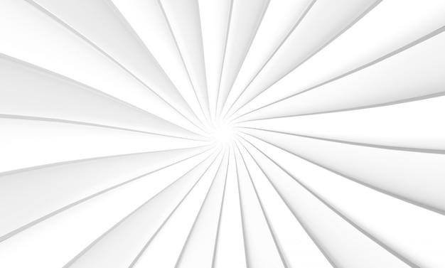 3d-рендеринг. белая тарелка вихрем твист арт дизайн стены фон.