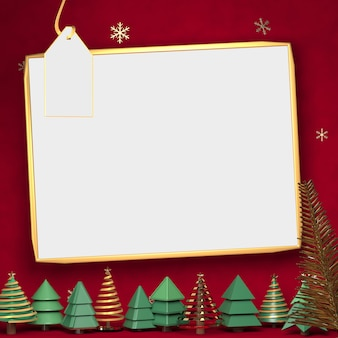 3d rendering of white space in red backdrop, space for show merchandise in chrismast