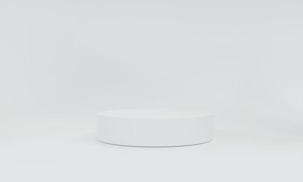 3dレンダリング、白いステージ製品の白い背景は、化粧品やその他の製品のバナーデザインの背景として使用できます