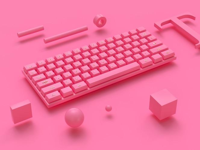 3d-рендеринг беспроводной компьютерной клавиатуры