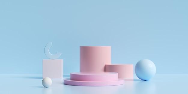 3d-рендеринг с минималистичной геометрией для демонстрации продукта