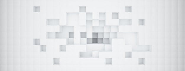 3d-рендеринг с regtangle, белый абстрактный фон