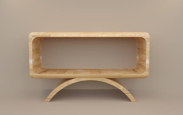 3d rendering wood of podium