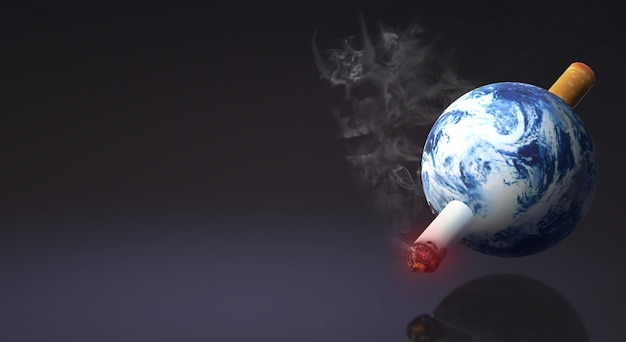 The 3d rendering world no tobacco day  image background.