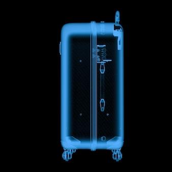 黒で分離された3dレンダリングx線荷物