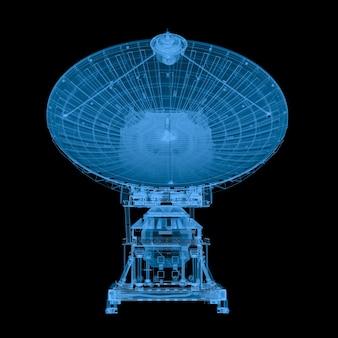 블랙에 고립 된 3d 렌더링 x 레이 위성