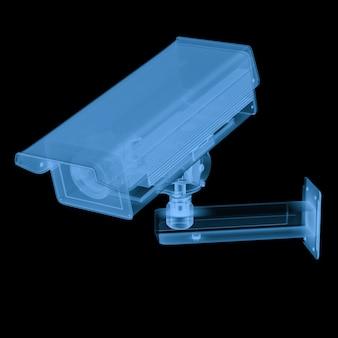 黒で分離された3dレンダリングx線セキュリティカメラまたはcctvカメラ