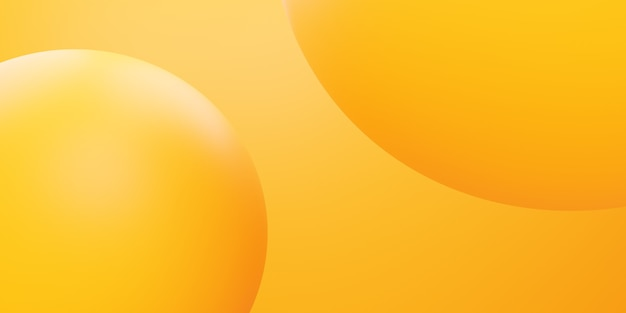 3d rendering of yellow orange circle abstract minimal background scene for advertising design