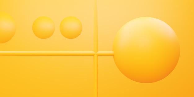 3d rendering of yellow orange geometric abstract minimal background scene for advertising design