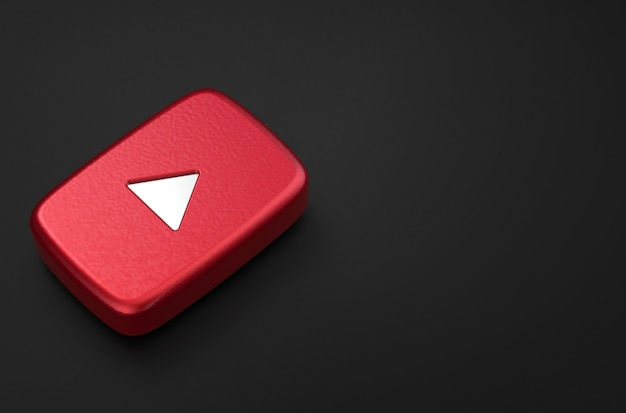 3d rendering of the youtube logo