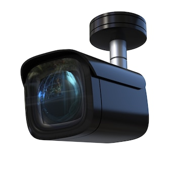 3d renderingâsecurity camera or cctv camera isolated on white