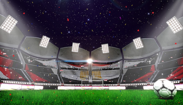 3d rendring of stadium background