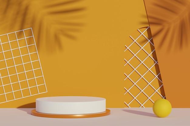 Трехмерный подиум для демонстрации макетов и презентации продукции с минимальным фоном в земных тонах