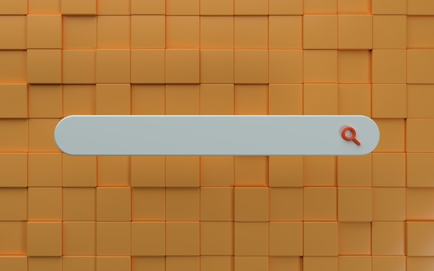 Панель поиска 3d с современным фоном