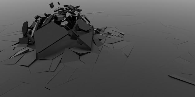 3d shatter抽象的な壁紙の背景