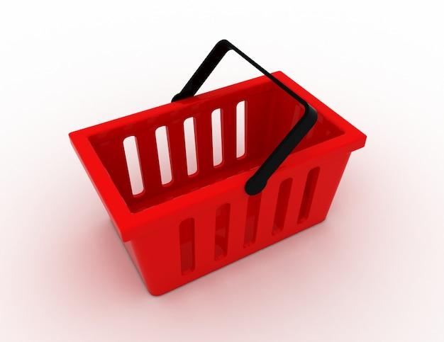 3d концепция корзины для покупок