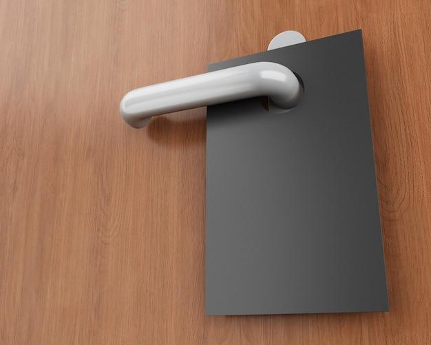3d sign on door handle