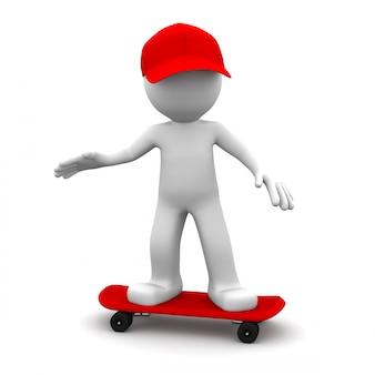 3d скейтбордист