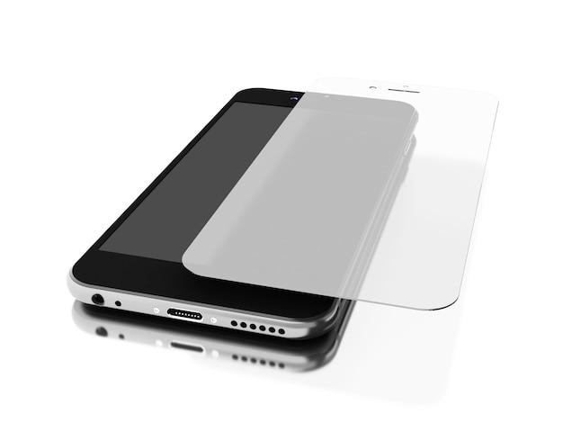 3d смартфон с защитой экрана