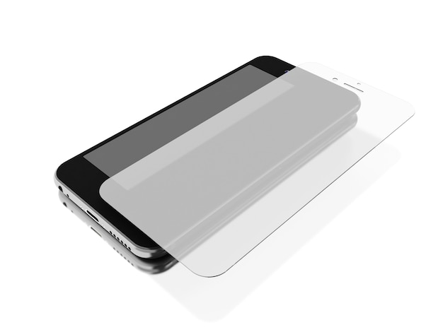 3d smartphone with screen protect glass