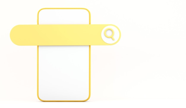 3-й смартфон с панелью поиска на белом фоне, концепция коммуникации и социальных сетей, 3-й фон иллюстрации