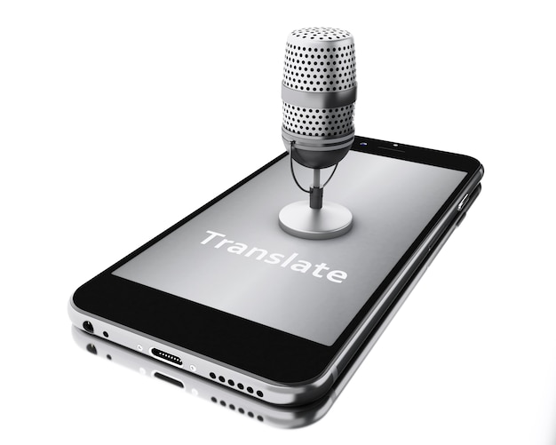 3d smartphone with word translate and a mic.