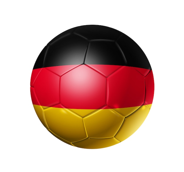 3d soccer ball with germany team flag