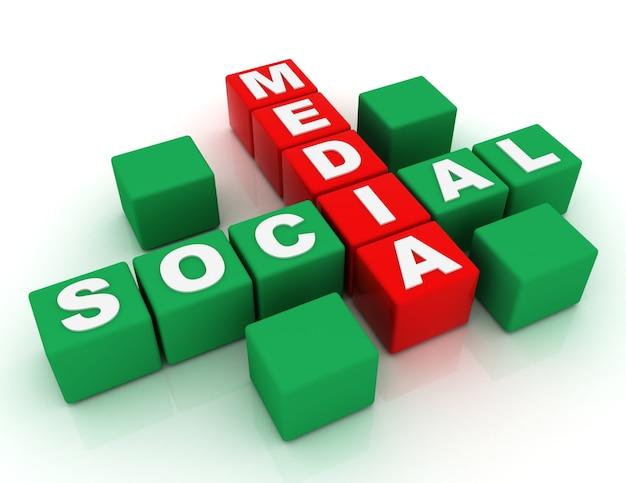 3d концепция социальных сетей