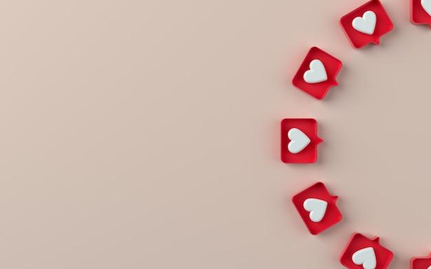3d социальные сети, такие как значок уведомления в 3d