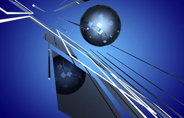 3d космическое строительство абстрактный фон. 3d иллюстрация