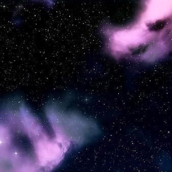 3D space sky
