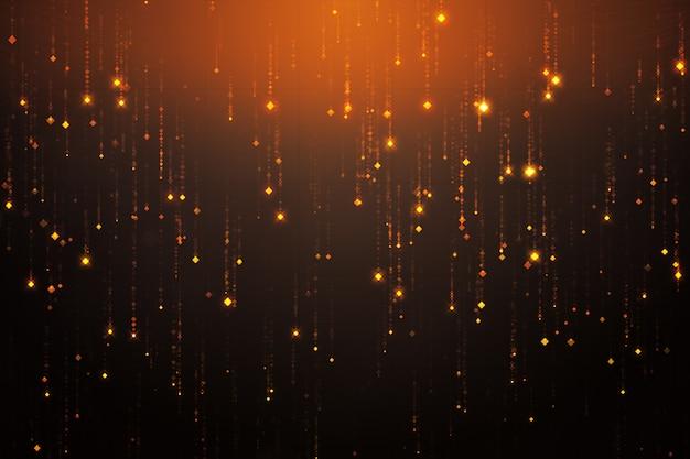 Абстрактная иллюстрация 3d с падая sparkles