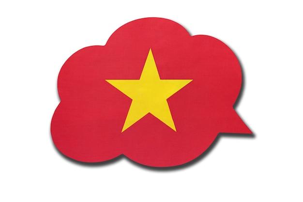 흰색 배경에 고립 된 베트남 국기와 함께 3d 연설 거품