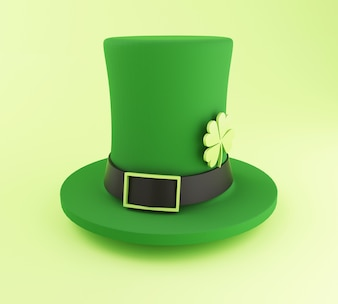 3d St. Patrick's day hat