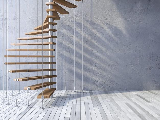 3d лестница, повесившаяся по кабелям