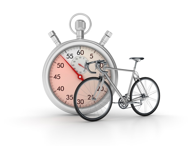 3d stopwatch with bike