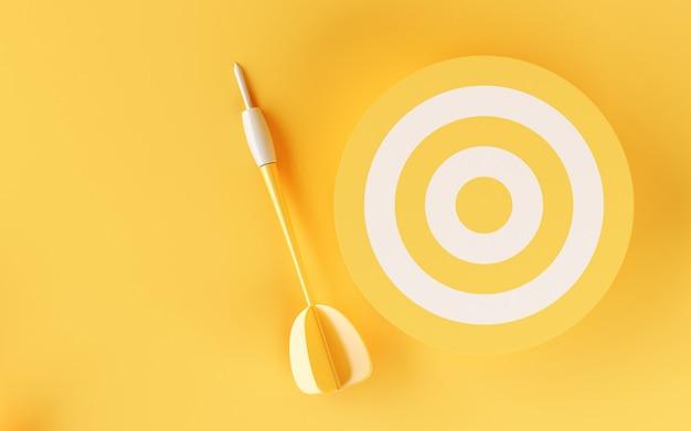 3d цель на желтом фоне.