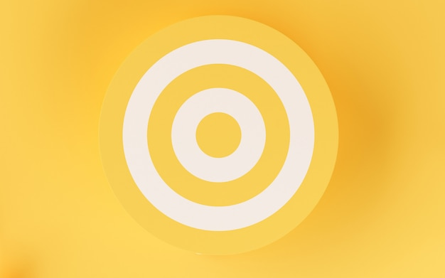 3d target on yellow background.