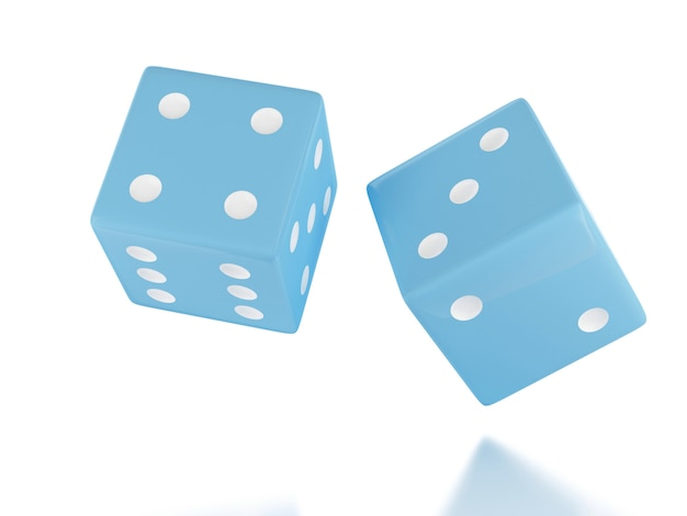 3d throwing dices