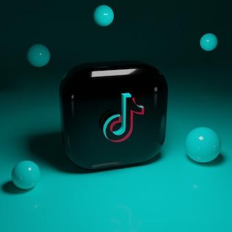 3d tiktok logo application