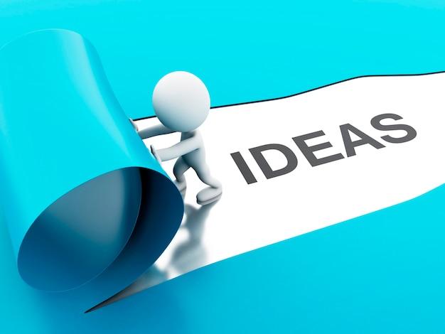 3d разобщенные идеи бумаги